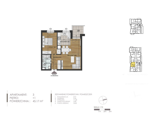 Mieszkanie w inwestycji Mokra 10, budynek Budynek A, symbol 3 » nportal.pl
