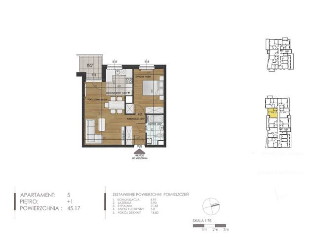 Mieszkanie w inwestycji Mokra 10, budynek Budynek A, symbol 5 » nportal.pl