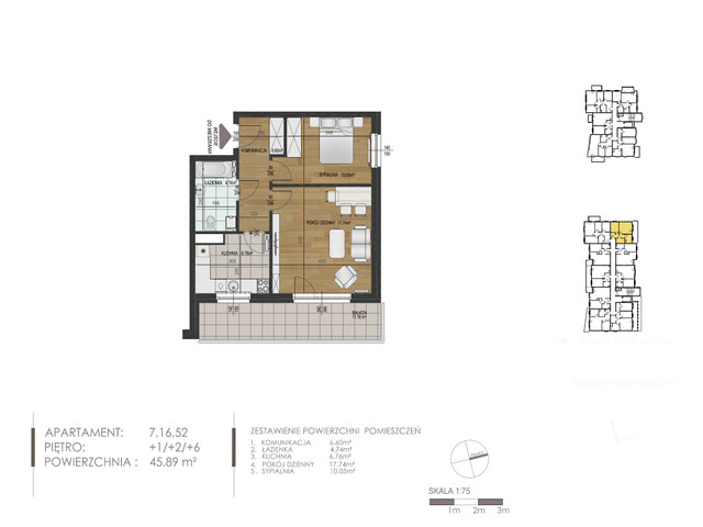Mieszkanie w inwestycji Mokra 10, budynek Budynek A, symbol 7 » nportal.pl