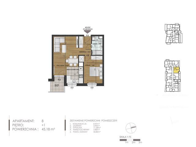 Mieszkanie w inwestycji Mokra 10, budynek Budynek A, symbol 8 » nportal.pl