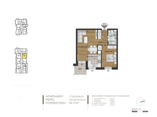 Mieszkanie w inwestycji Mokra 10, budynek Budynek A, symbol 44 » nportal.pl