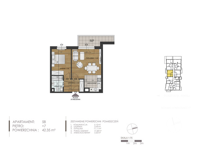 Mieszkanie w inwestycji Mokra 10, budynek Budynek A, symbol 58 » nportal.pl