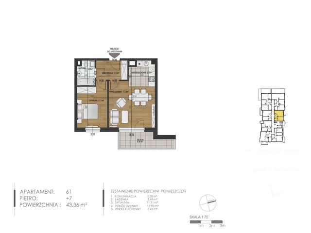 Mieszkanie w inwestycji Mokra 10, budynek Budynek A, symbol 61 » nportal.pl