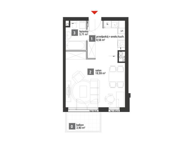 Mieszkanie w inwestycji Chabrowe Wzgórze, symbol A2.1.09 » nportal.pl