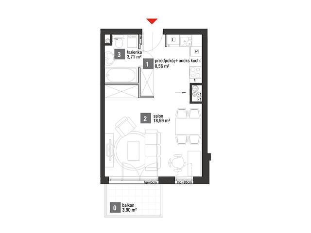 Mieszkanie w inwestycji Chabrowe Wzgórze, symbol A2.2.18 » nportal.pl