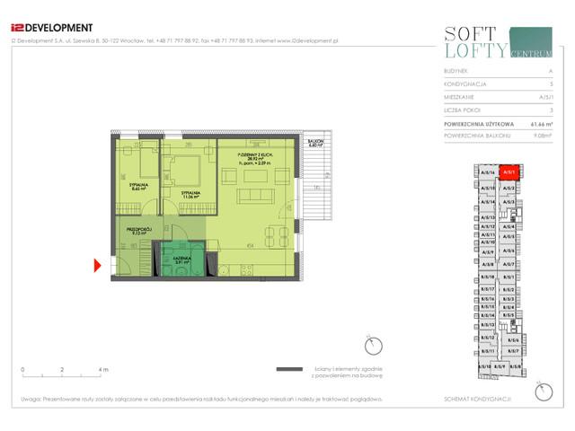 Mieszkanie w inwestycji Soft Lofty Centrum/Legnicka, budynek CENTRUM, symbol A/5/1 » nportal.pl