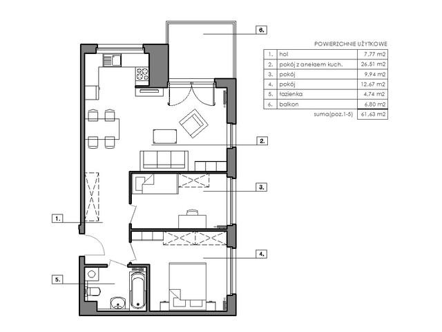 Mieszkanie w inwestycji Signum, symbol B.3.4 » nportal.pl
