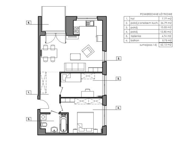 Mieszkanie w inwestycji Signum, symbol B.4.4 » nportal.pl