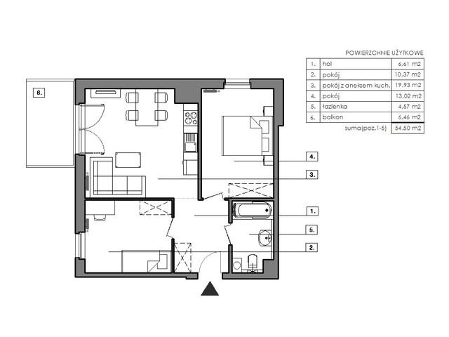 Mieszkanie w inwestycji Signum, symbol B.7.2 » nportal.pl