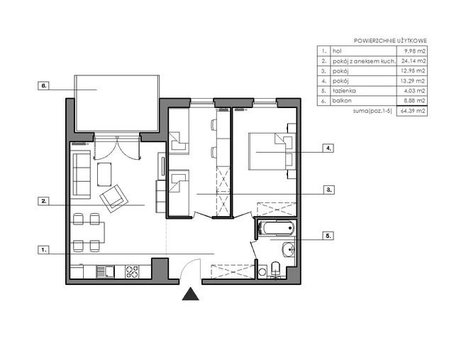 Mieszkanie w inwestycji Signum, budynek Budynek I, symbol B.7.3 » nportal.pl