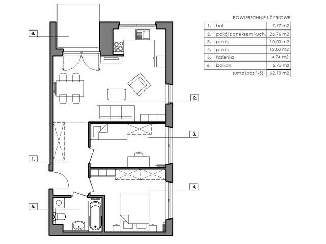Mieszkanie w inwestycji Signum, symbol B.8.4 » nportal.pl