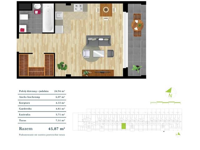 Mieszkanie w inwestycji Apartamenty Zdrowie w Łodzi, symbol K3.0.2 » nportal.pl