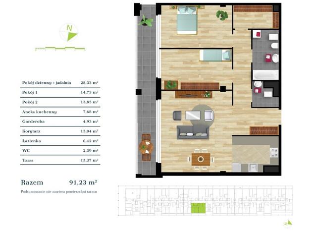 Mieszkanie w inwestycji Apartamenty Zdrowie w Łodzi, symbol K3.IV.6 » nportal.pl