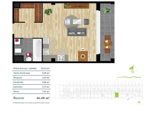 Mieszkanie w inwestycji Apartamenty Zdrowie w Łodzi, symbol K4.0.3 » nportal.pl
