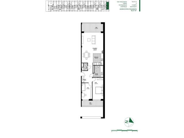 Mieszkanie w inwestycji Apartamenty Zdrowie w Łodzi, symbol K4.IV.6 » nportal.pl