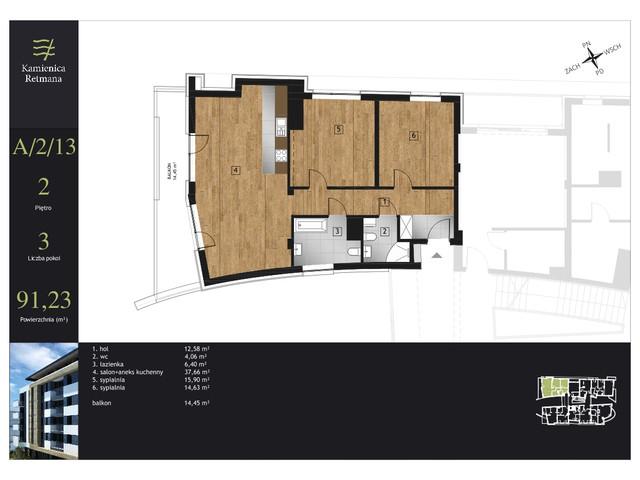 Mieszkanie w inwestycji Kamienica Retmana, symbol A.2.14 » nportal.pl