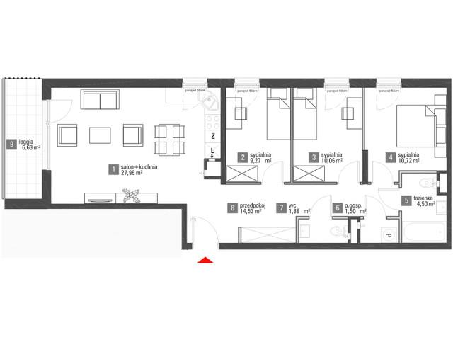 Mieszkanie w inwestycji Brzozowy Zakątek, budynek A4, symbol A.2.010 » nportal.pl