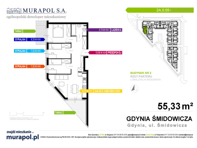 Mieszkanie w inwestycji Murapol Nadmorskie Tarasy, budynek Budynek 2, symbol 2A.0.05 » nportal.pl