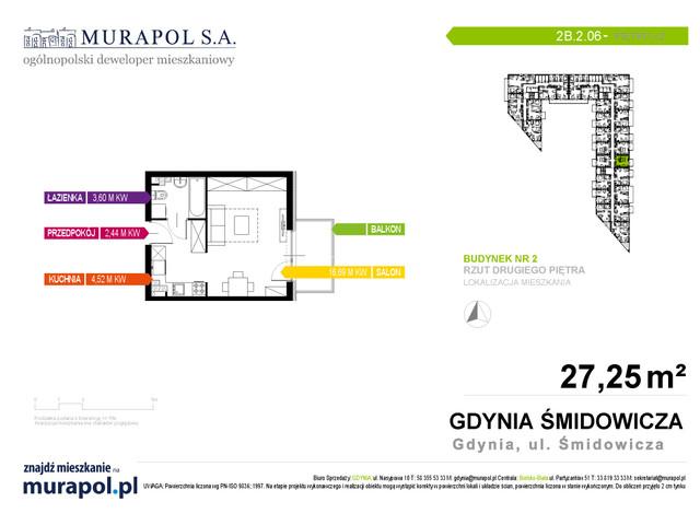 Mieszkanie w inwestycji Murapol Nadmorskie Tarasy, budynek Budynek 2, symbol 2B.2.06 » nportal.pl