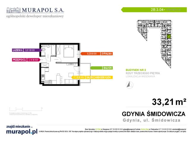 Mieszkanie w inwestycji Murapol Nadmorskie Tarasy, budynek Budynek 2, symbol 2B.3.04 » nportal.pl