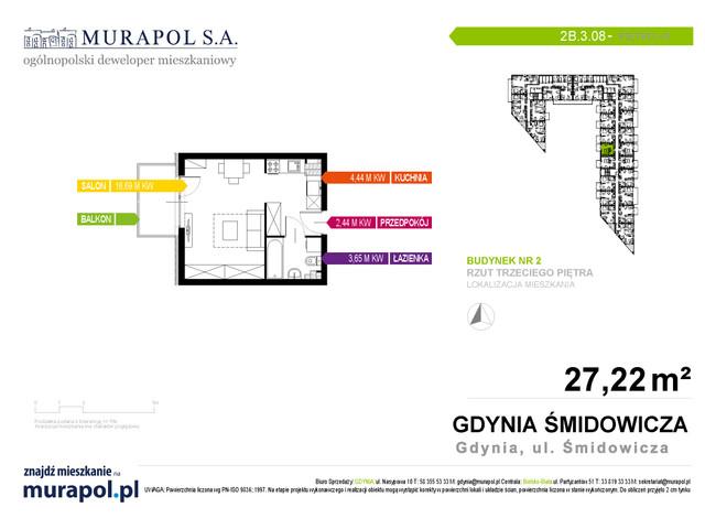 Mieszkanie w inwestycji Murapol Nadmorskie Tarasy, budynek Budynek 2, symbol 2B.3.08 » nportal.pl