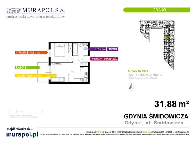 Mieszkanie w inwestycji Murapol Nadmorskie Tarasy, budynek Budynek 2, symbol 2B.3.09 » nportal.pl