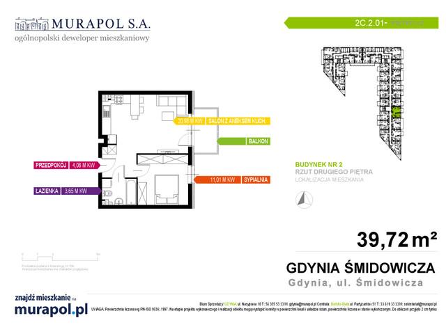 Mieszkanie w inwestycji Murapol Nadmorskie Tarasy, budynek Budynek 2, symbol 2C.2.01 » nportal.pl