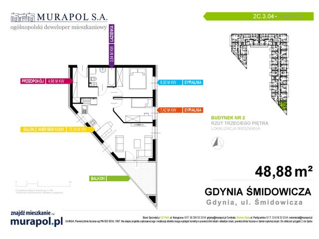 Mieszkanie w inwestycji Murapol Nadmorskie Tarasy, budynek Budynek 2, symbol 2C.3.04 » nportal.pl