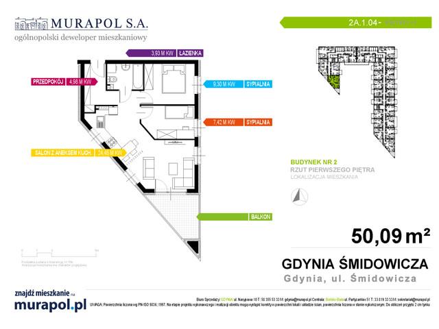 Mieszkanie w inwestycji Murapol Nadmorskie Tarasy, budynek Budynek 2, symbol 2A.1.04 » nportal.pl