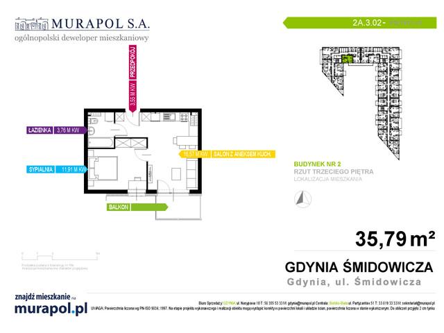 Mieszkanie w inwestycji Murapol Nadmorskie Tarasy, budynek Budynek 2, symbol 2A.3.02 » nportal.pl