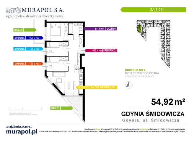 Mieszkanie w inwestycji Murapol Nadmorskie Tarasy, budynek Budynek 2, symbol 2A.3.05 » nportal.pl