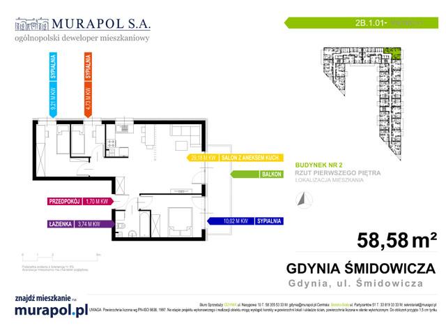 Mieszkanie w inwestycji Murapol Nadmorskie Tarasy, budynek Budynek 2, symbol 2B.1.01 » nportal.pl