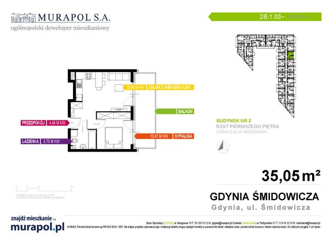 Mieszkanie w inwestycji Murapol Nadmorskie Tarasy, budynek Budynek 2, symbol 2B.1.03 » nportal.pl