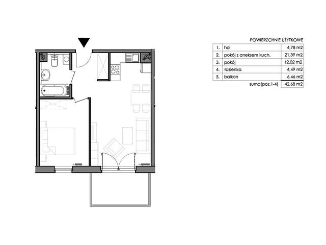 Mieszkanie w inwestycji Signum, budynek Budynek II – Stratus, symbol C.1.2 » nportal.pl