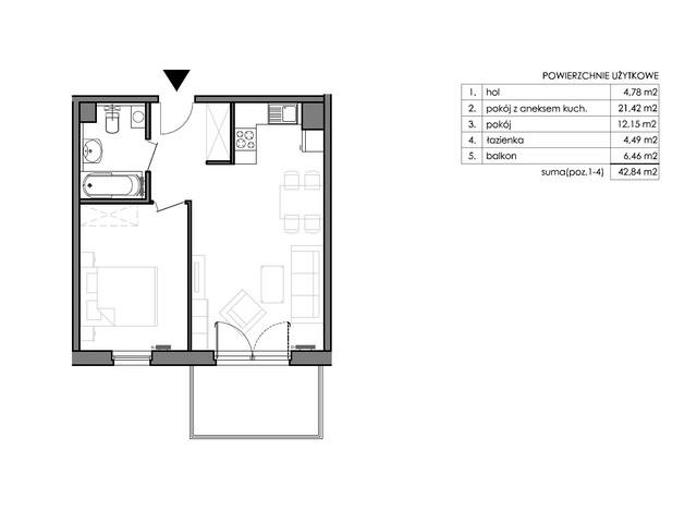 Mieszkanie w inwestycji Signum, budynek Budynek II – Stratus, symbol C.4.2 » nportal.pl