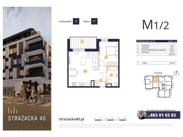 Mieszkanie w inwestycji Strażacka 40, symbol M1/2 » nportal.pl