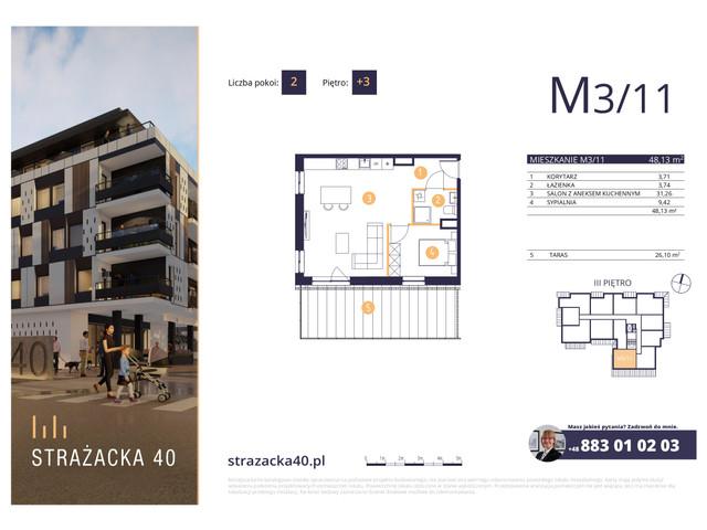 Mieszkanie w inwestycji Strażacka 40, symbol M3/11 » nportal.pl