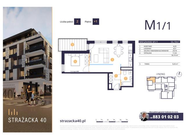Mieszkanie w inwestycji Strażacka 40, symbol M1/1 » nportal.pl