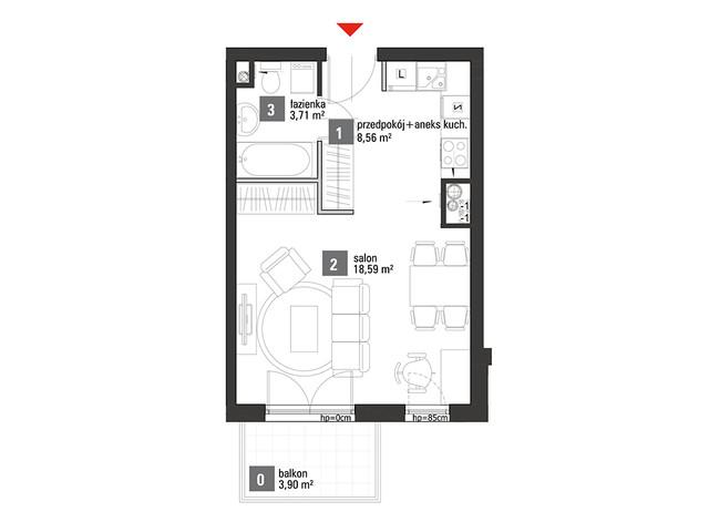 Mieszkanie w inwestycji Chabrowe Wzgórze, symbol A1.4.36 » nportal.pl