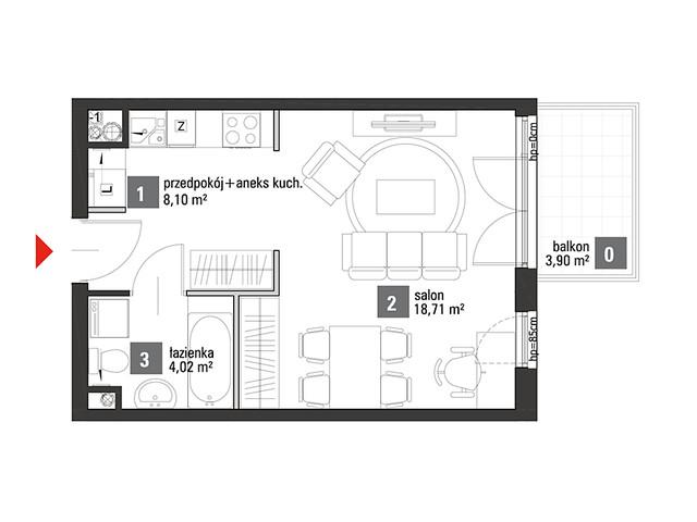 Mieszkanie w inwestycji Chabrowe Wzgórze, symbol C1.1.30 » nportal.pl