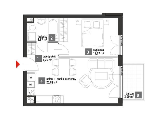 Mieszkanie w inwestycji Chabrowe Wzgórze, symbol C1.1.29 » nportal.pl