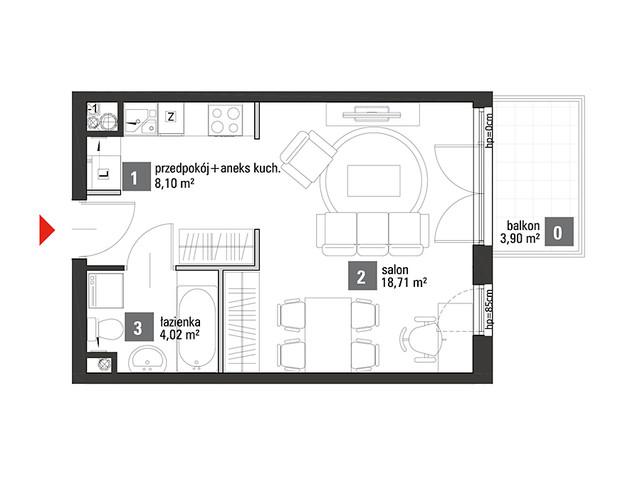 Mieszkanie w inwestycji Chabrowe Wzgórze, symbol C1.3.48 » nportal.pl