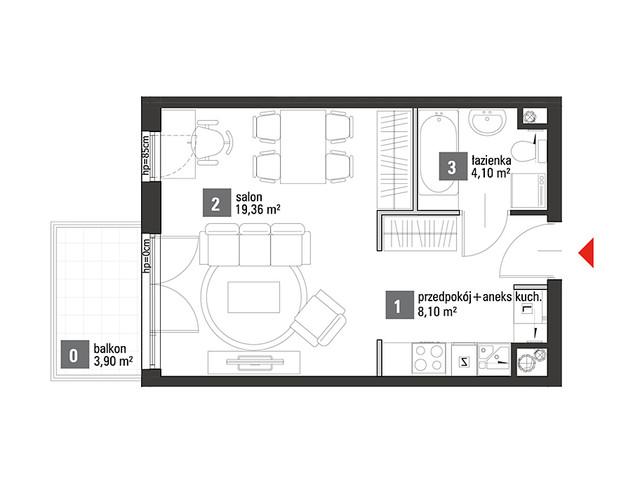 Mieszkanie w inwestycji Chabrowe Wzgórze, symbol C1.2.43 » nportal.pl