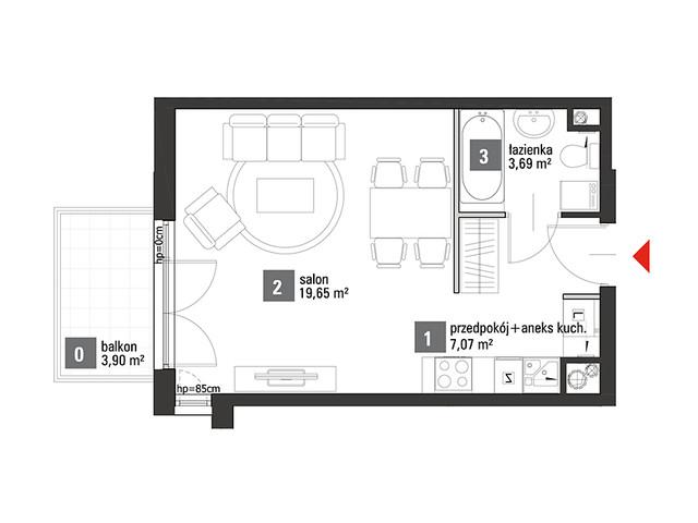 Mieszkanie w inwestycji Chabrowe Wzgórze, symbol C1.2.45 » nportal.pl