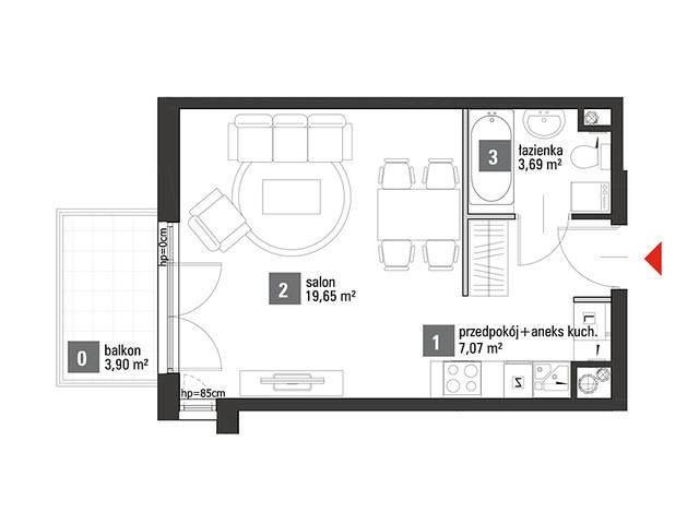 Mieszkanie w inwestycji Chabrowe Wzgórze, symbol C1.3.54 » nportal.pl