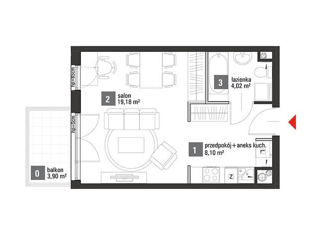 Mieszkanie w inwestycji Chabrowe Wzgórze, symbol C1.3.51 » nportal.pl