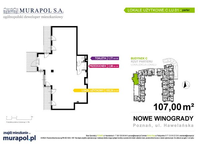 Komercyjne w inwestycji Osiedle Nowe Winogrady - lokale usług..., budynek C, symbol C.LU.01 » nportal.pl