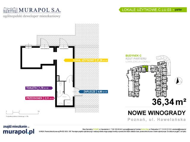 Komercyjne w inwestycji Osiedle Nowe Winogrady - lokale usług..., budynek C, symbol C.LU.03 » nportal.pl