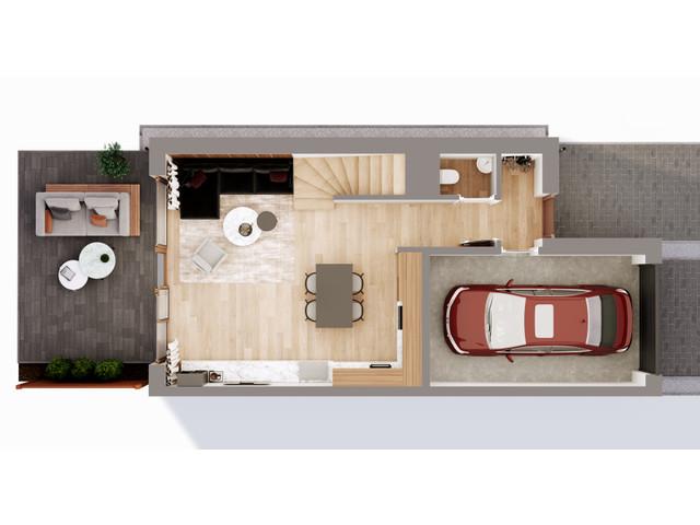 Mieszkanie w inwestycji Chmielowice Apartamenty, budynek Blizniaki, symbol B3-P » nportal.pl
