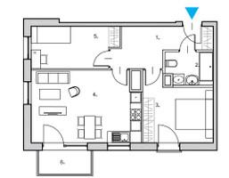 Mieszkanie na sprzedaż, Gdańsk Śródmieście Nowa Motława JAGLANA, 494 267 zł, 58,3 m2, RS02